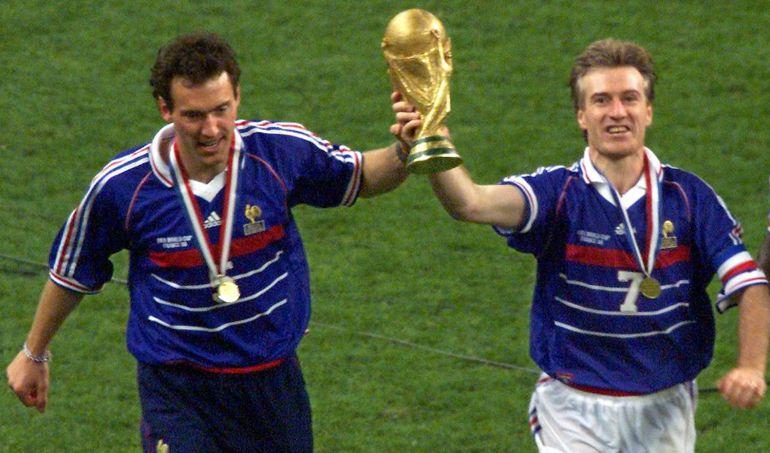 Blanc y Deschamps, campeones del Mundo en 1998.
