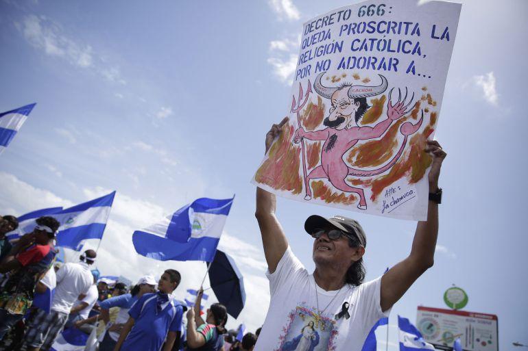 Se reanudan sin incidentes las protestas en Nicaragua