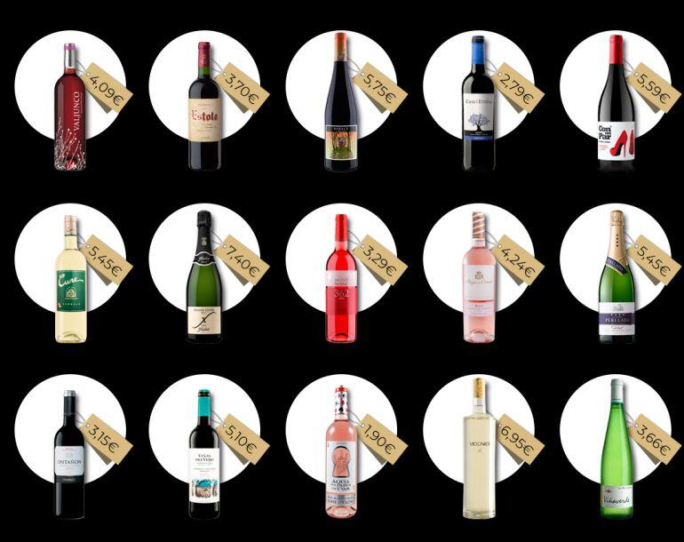 15 chollos (de entre 2 y 7 euros) de la sección de vinos del supermercado