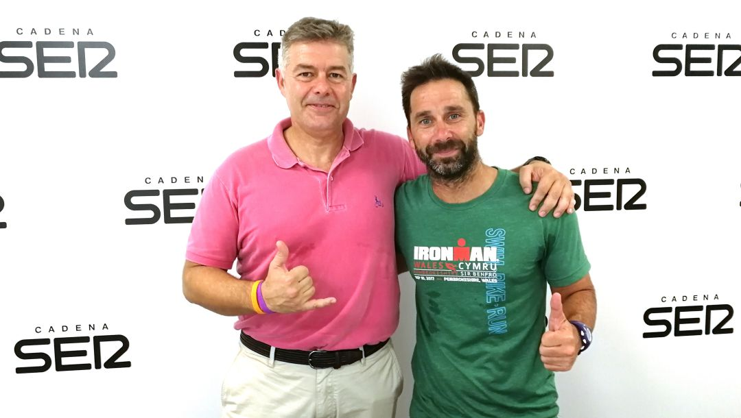 "Jorge Crivillés con ""Big Mike"" en Radio Alicante"