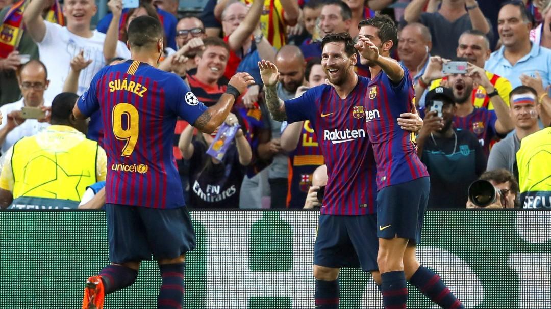 La calidad de Messi y Dembélé tumba a un atrevido PSV