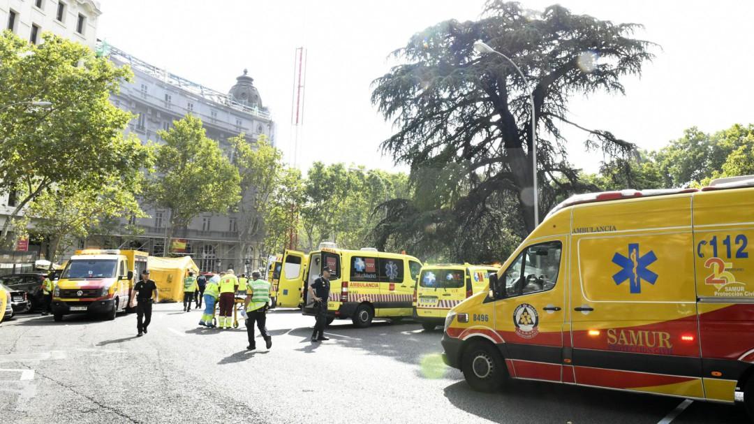 Derrumbe en las obras del hotel Ritz: un trabajador muerto y 11 atendidos