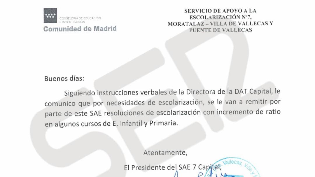 Educación ordena masificar colegios públicos de Vallecas y Moratalaz
