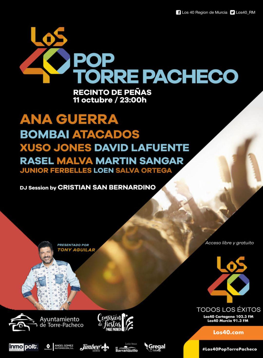 Ana Guerra, entre los artistas de LOS40 Pop Torre Pacheco   Radio ...
