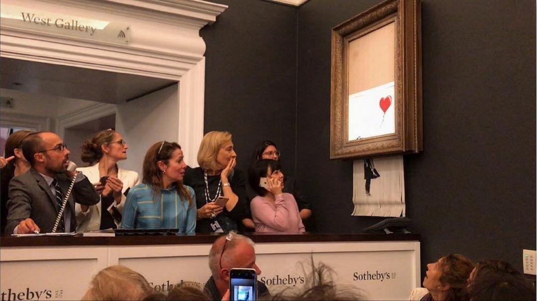 Banksy destruyó obra que acababa de subastar en 917 millones de pesos