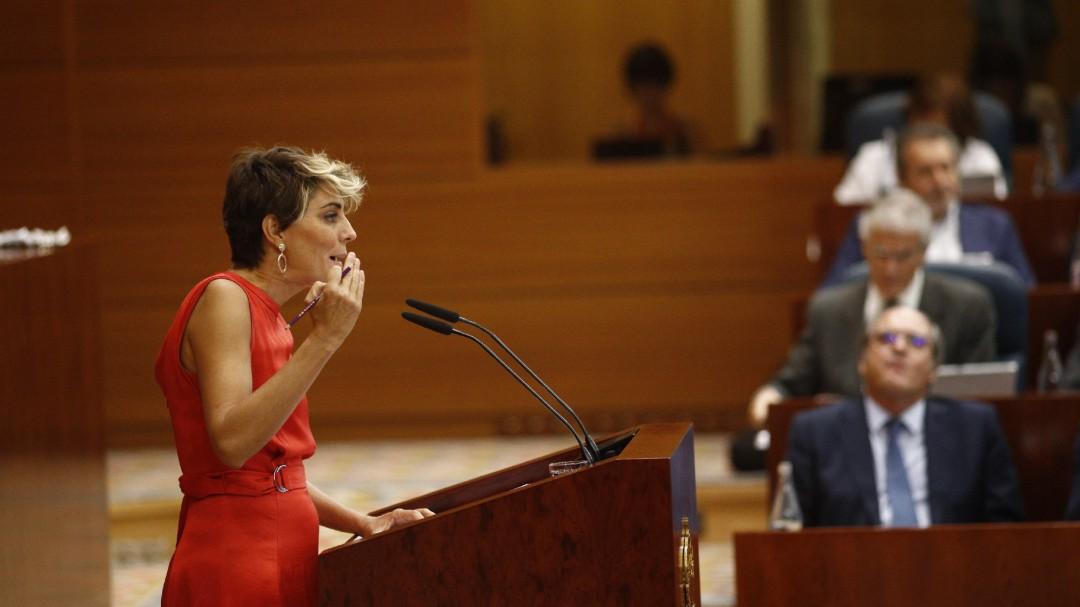Dimite la portavoz de Podemos en la Asamblea de Madrid, Lorena Ruiz-Huerta