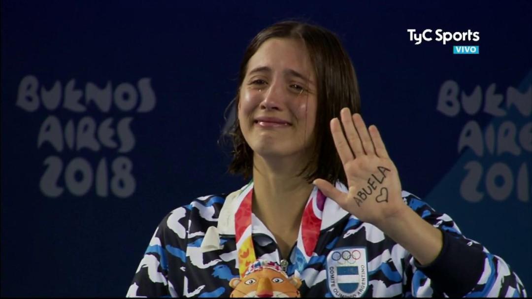 La emocionante dedicatoria de una nadadora que ha conquistado Argentina
