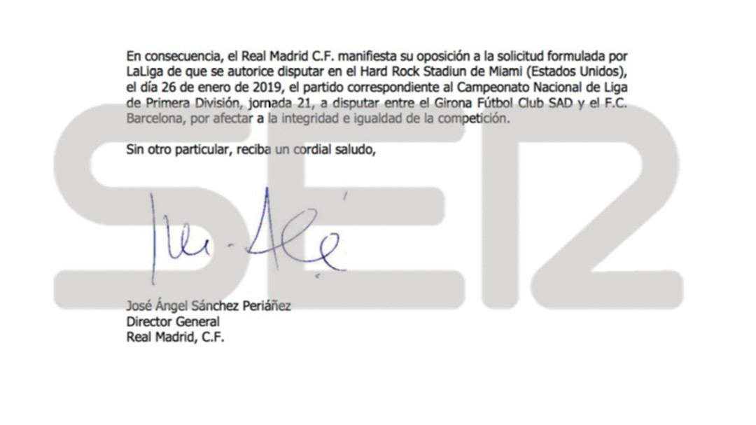 El Real Madrid desmonta los argumentos de Tebas