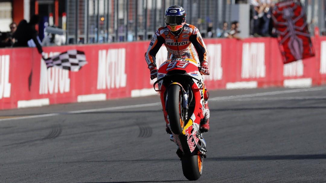 Marc Márquez gana en Motegi y conquista su quinto Mundial de MotoGP