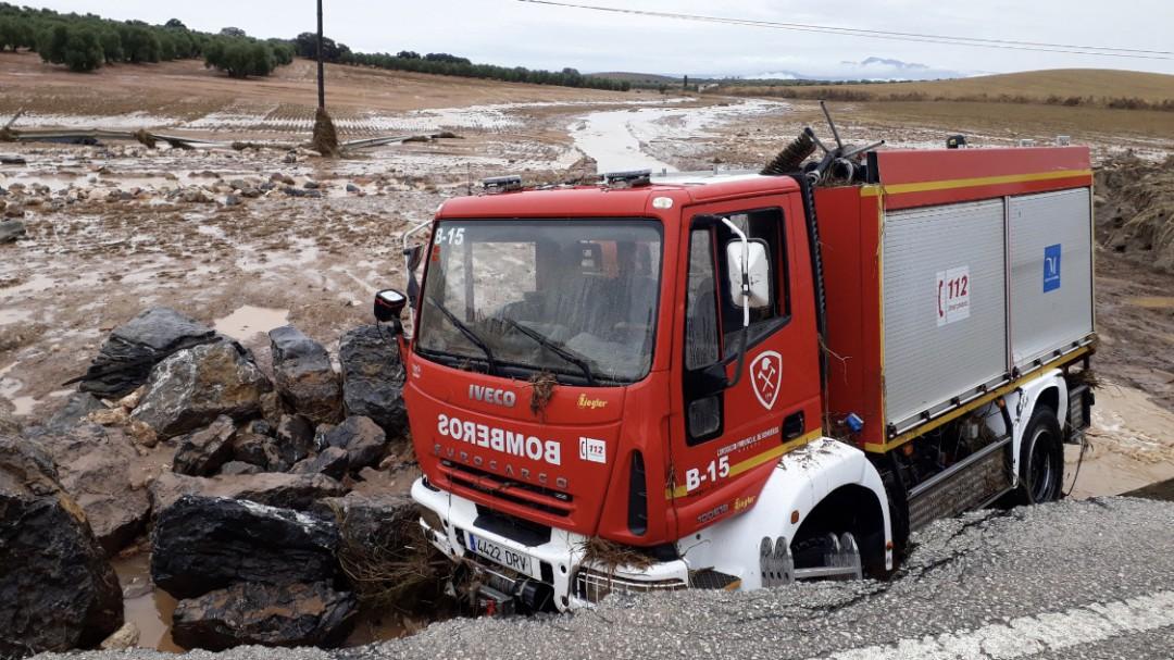 Hallado el cadáver del bombero desaparecido tras la riada en Málaga