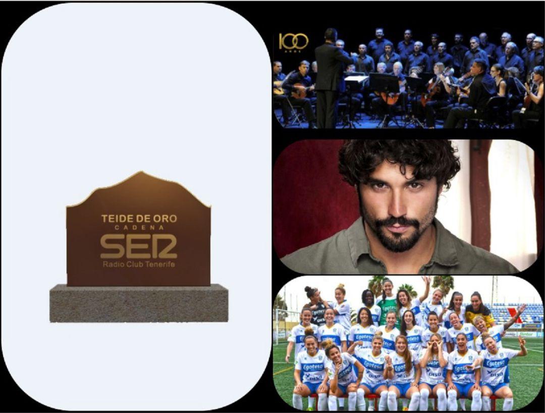 Galardones: El Granadilla Tenerife EGATESA, el actor Alex García y el Orfeón La Paz, premios Teide Oro 2018