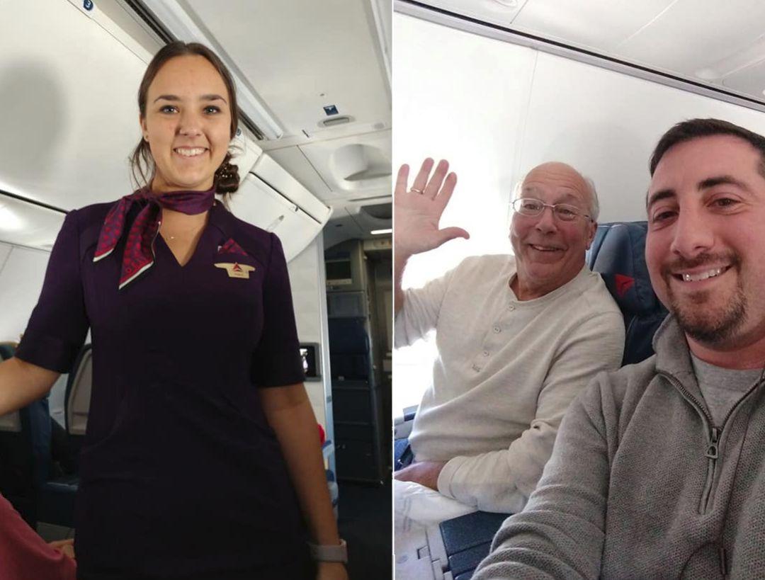 Compra 6 boletos de avión para celebrar la Navidad con su hija asistente de vuelo — Amor del bueno