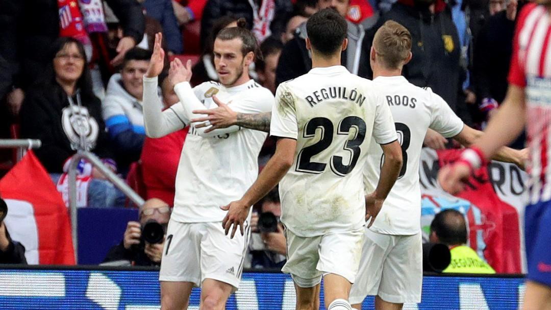 El gesto de Gareth Bale en la celebración del tercer gol