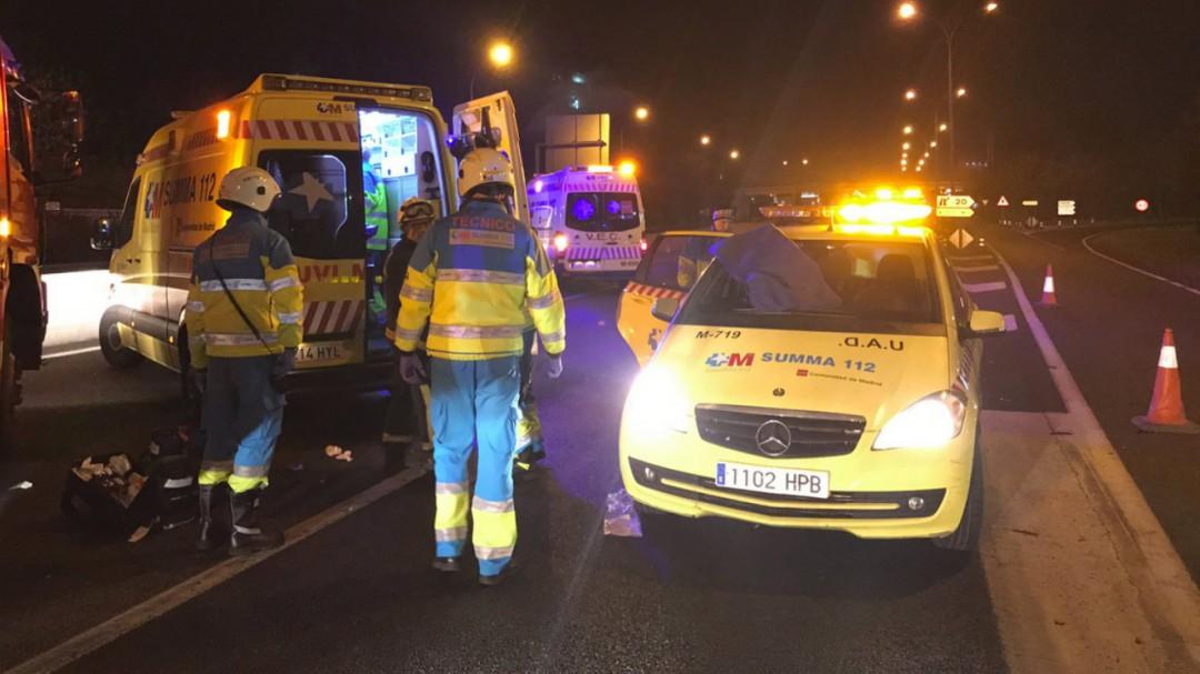 Una menor de 10 años y su hermana de 19 fallecen en un accidente de tráfico en Madrid