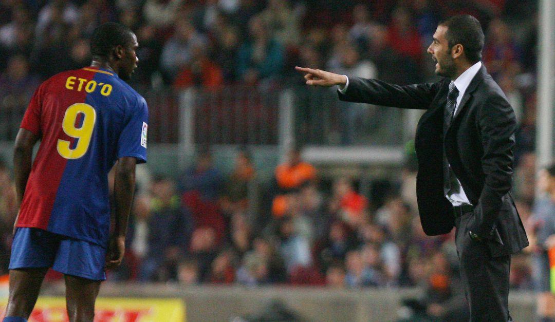 Eto'o cruzó a Guardiola por Messi