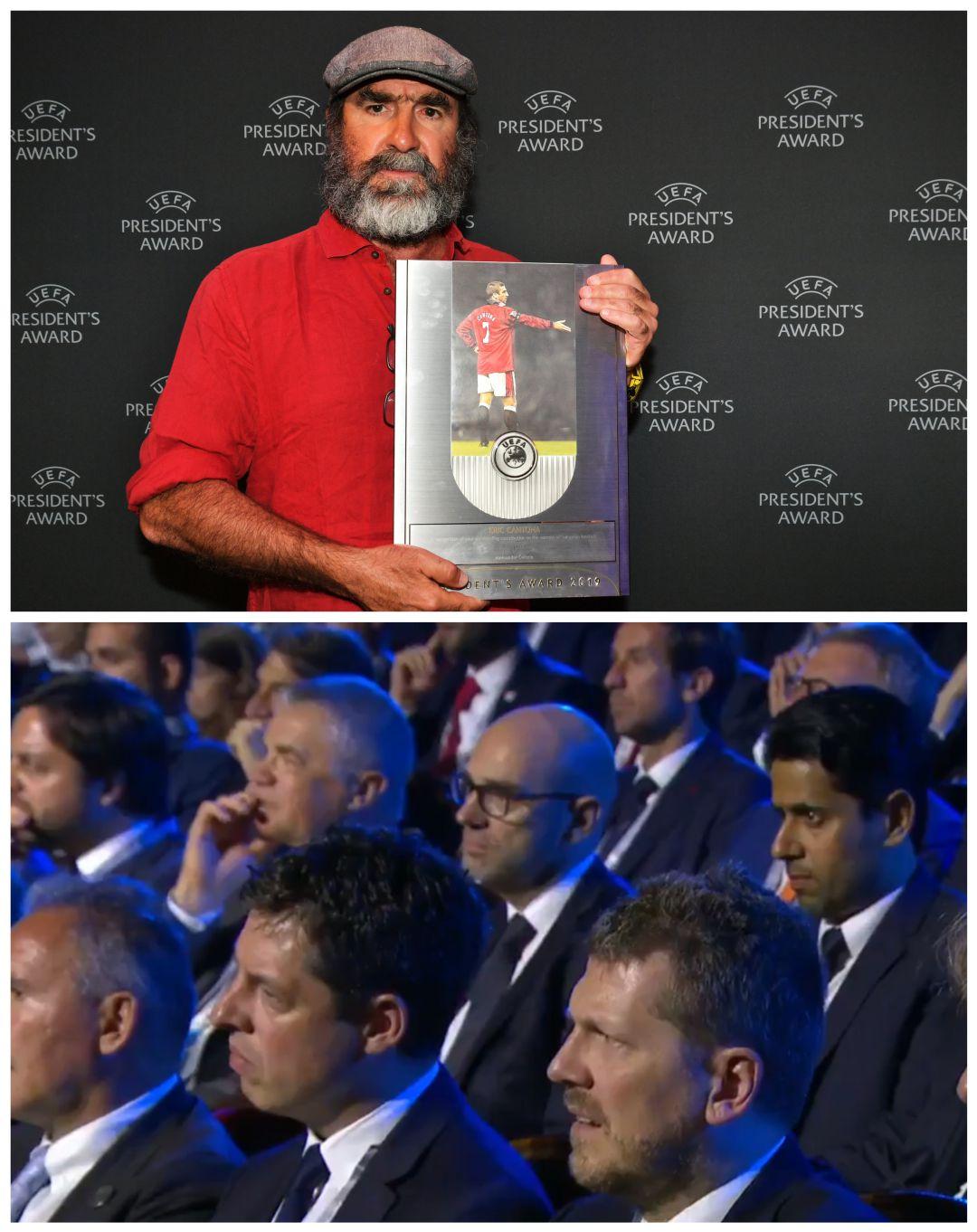 Eric Cantona dejó atónitos a Messi y Cristiano Ronaldo