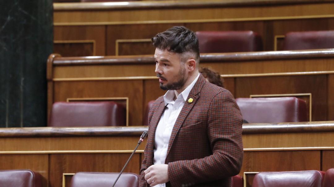gabriel rufián advierte voto erc prórroga estado alarma