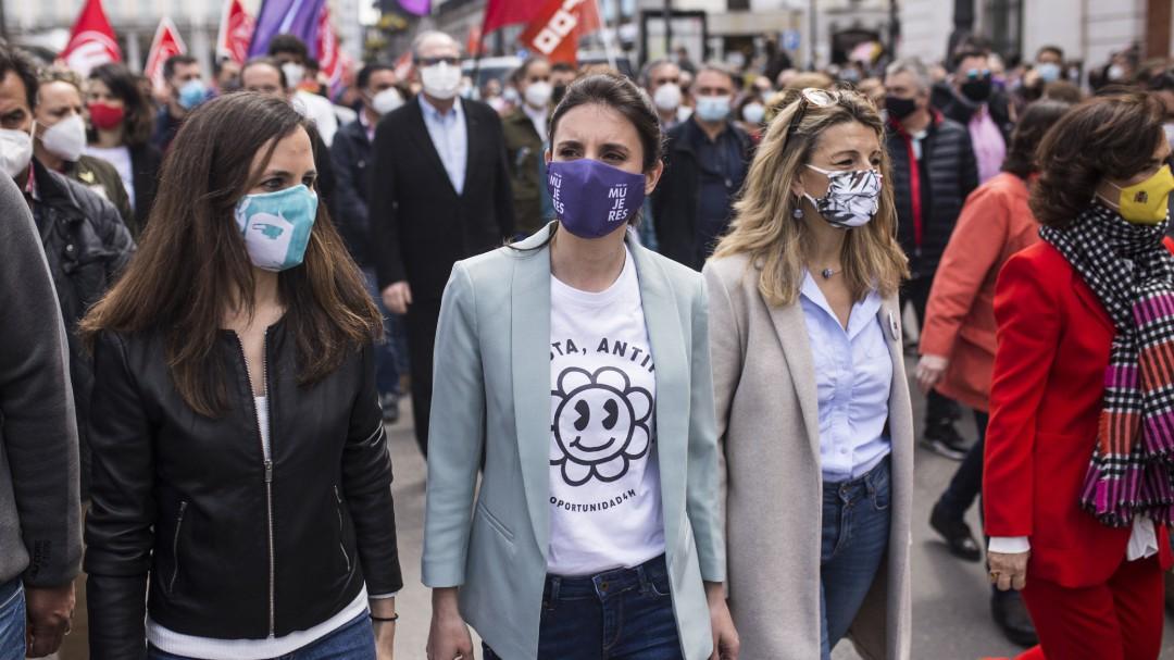 Montero, Belarra y Díaz piden que el derecho al aborto se ejerza de forma segura, pública y gratuita