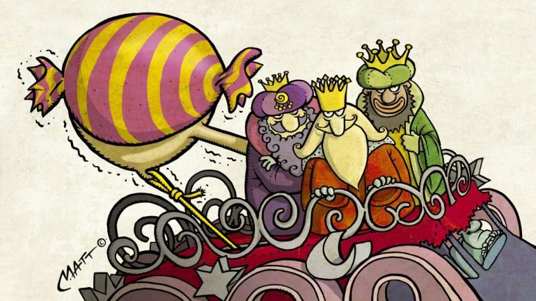 Unidad de vigilancia | Los Reyes Magos lanzarán a los niños caramelos de 2.200 kilos