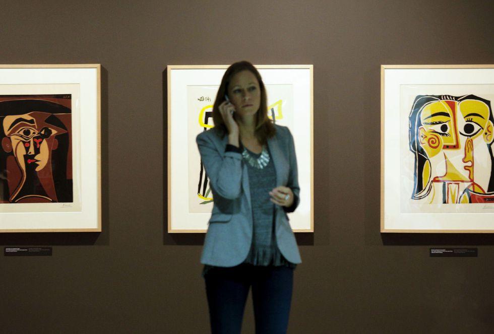 Linograbados que Pablo Picasso dedicó a su mujer Jacqueline Roque.