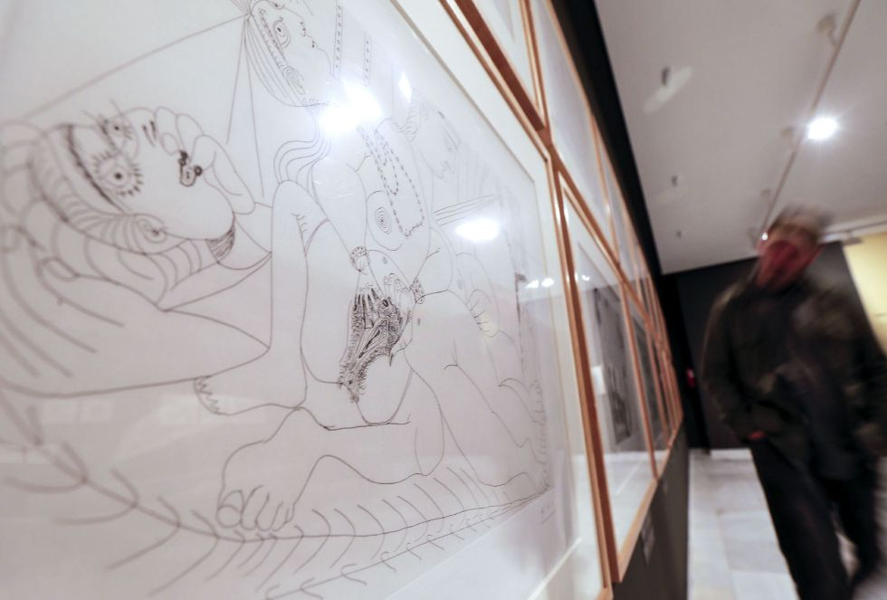 Grabados que componen la Suite 156 de Pablo Picasso