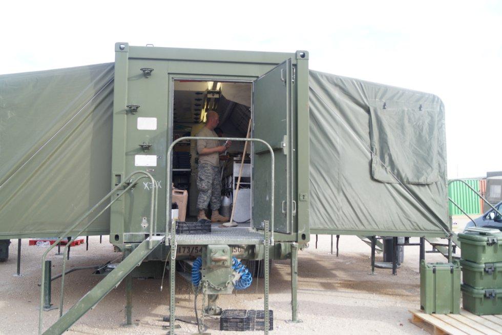 Imagen de la cocina de la instalación militar