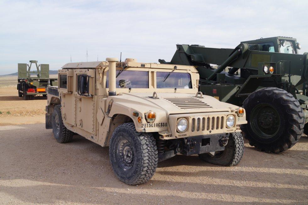 Uno de los vehículos de transporte de tropas