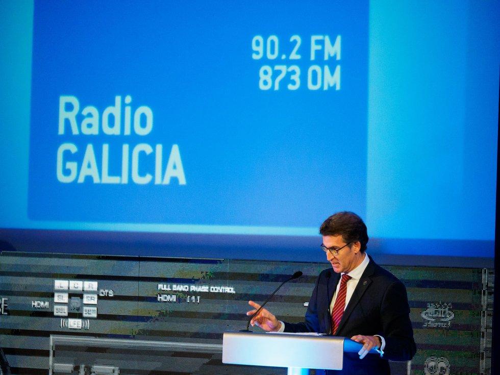 Alberto Núñez Feijóo, Presidente de la Xunta, en su discurso
