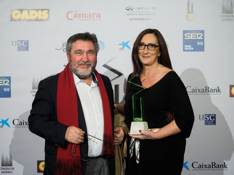 Luis Celeiro y Victoria Otero, ambos de la USC