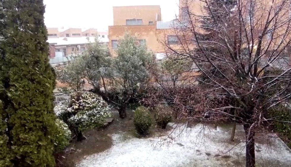 Nieve en Barbastro