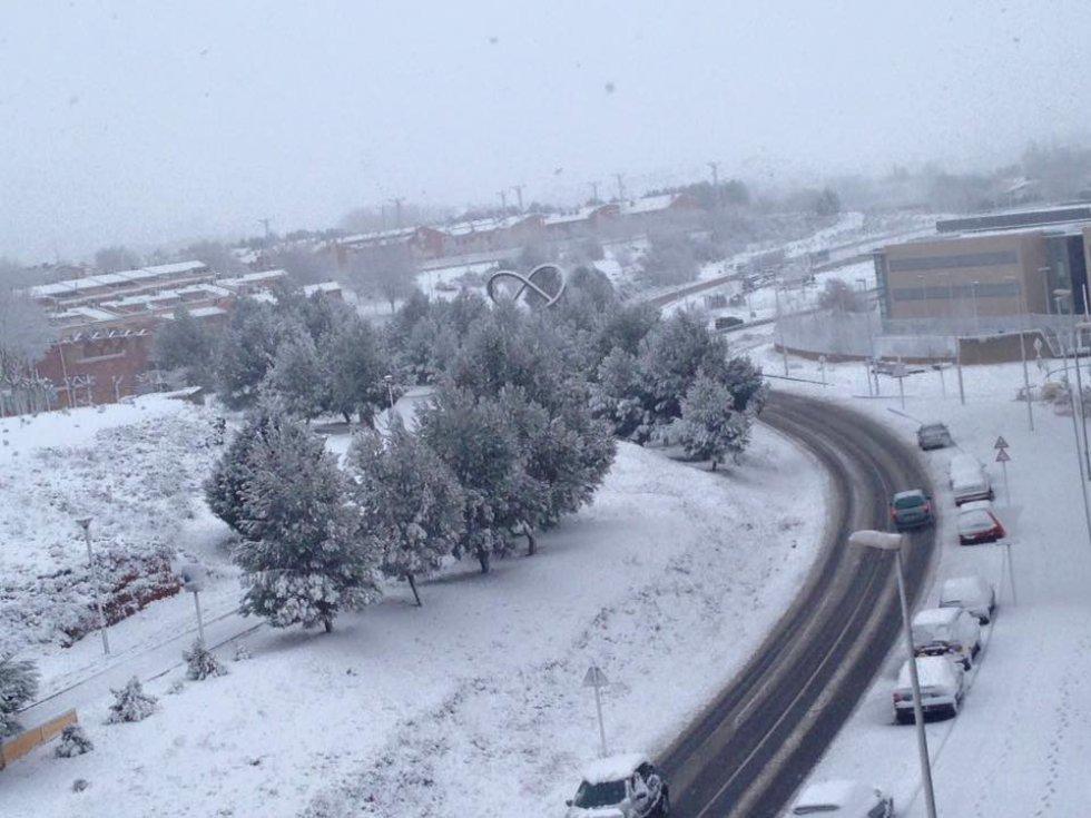 Teruel bajo cero y bajo la nieve