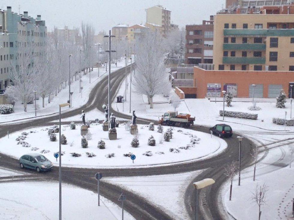 Teruel ha amanecido de blanco
