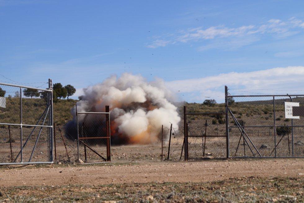 Detonación de un explosivo