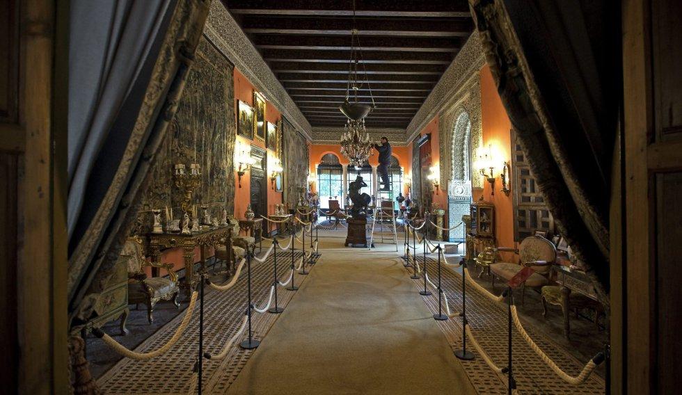 El salón de la Gitana, una de las estancias de la Casa Palacio de las Dueñas, la emblemática residencia de los Alba