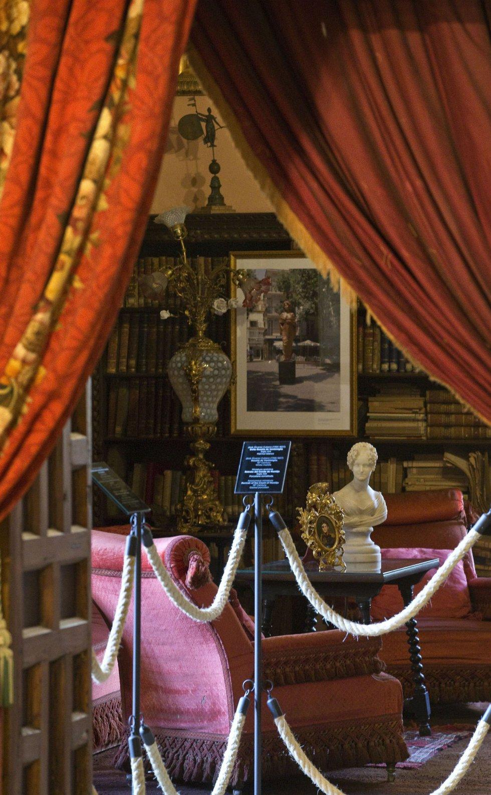 La sala de lectura privada, una de las estancias de la Casa Palacio de las Dueñas
