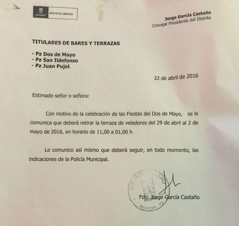 Dos De Mayo Sin Terrazas Radio Madrid Cadena Ser