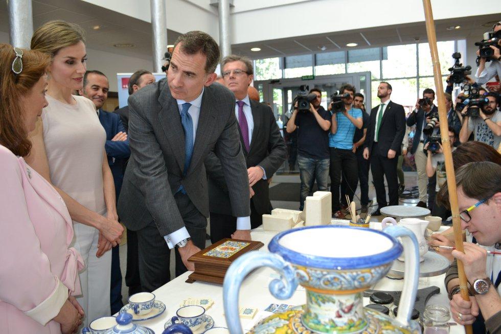 Visita de SS.MM los Reyes a la UCLM de Talavera de la Reina