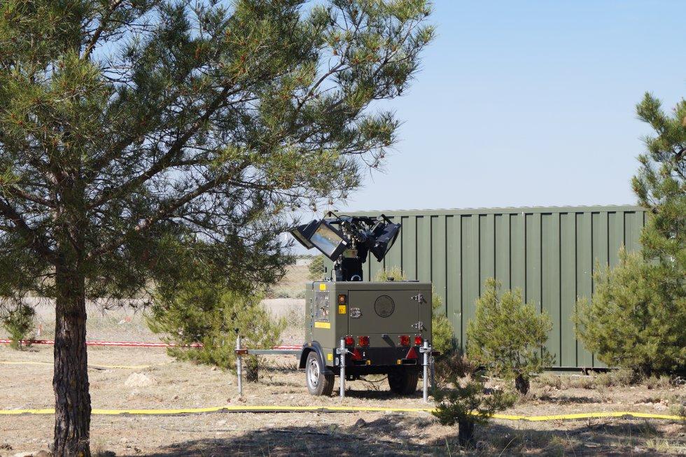 Otra de las baterías antiaéreas instaladas