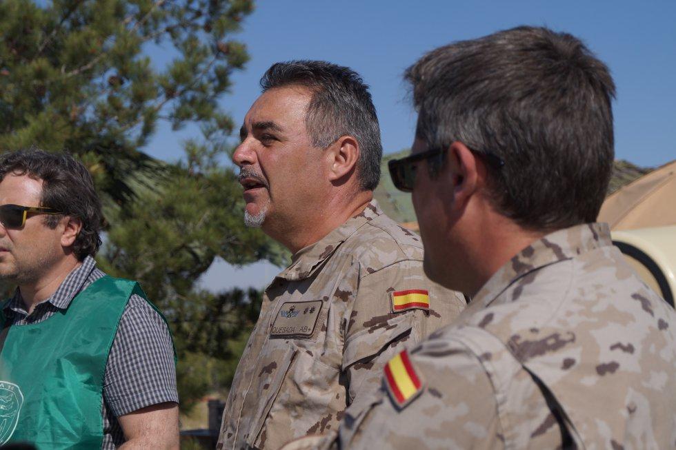 El teniente coronel Ángel Quesada es el responsable de los ejercicios