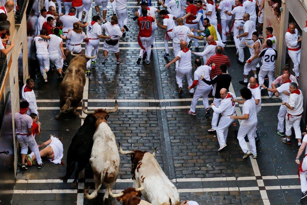 Los toros, en la calle Estafeta.