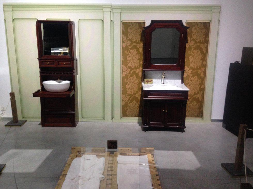 Recreación de los lavabos y la ropa de baño del buque