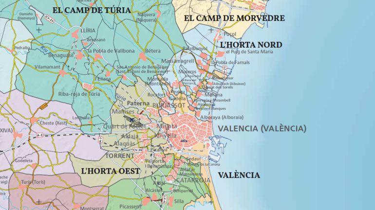 Mapa Municipios De Valencia.Instituto Cartografico Volvera A Delimitar Algunos