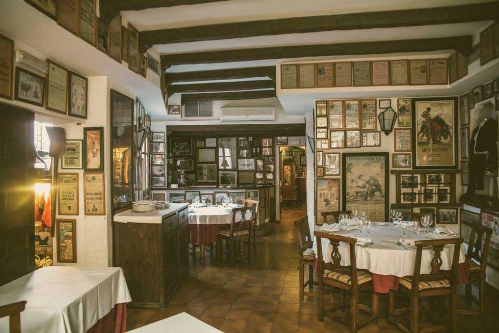 """Uno de los salones del Restaurante """"El Callejón"""" de Albacete que también ha participado en el programa para hablar de gastronomía"""