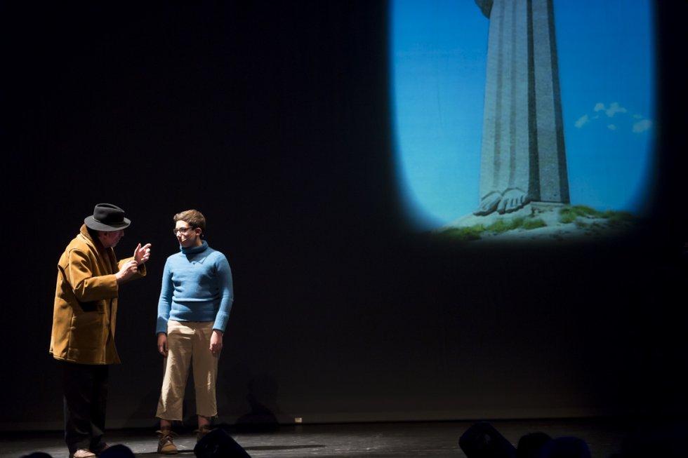 Teatro del Limbo se encargó de guiarnos en un recorrido sobre la historia de la creación del Cristo del Otero
