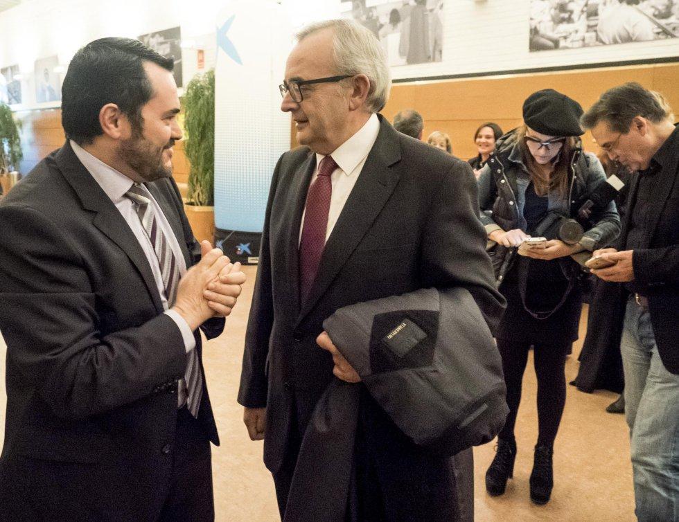 Alfonso Cabaleiro, de Galicia Calidade, con Virgilio Costas