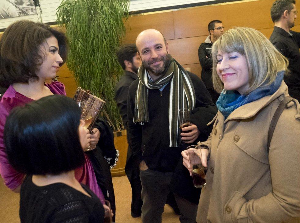 El portavoz de En Marea en el Parlamento, Luis Villares y la diputada Carmen Santos