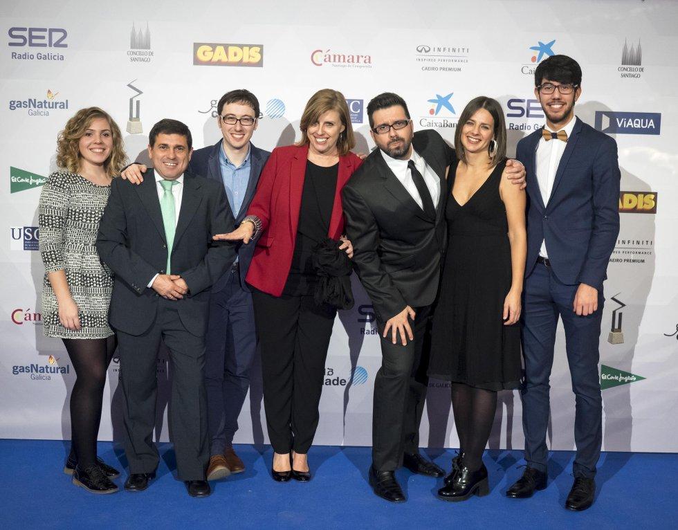Equipo de redacción de Radio Galicia en el photocall
