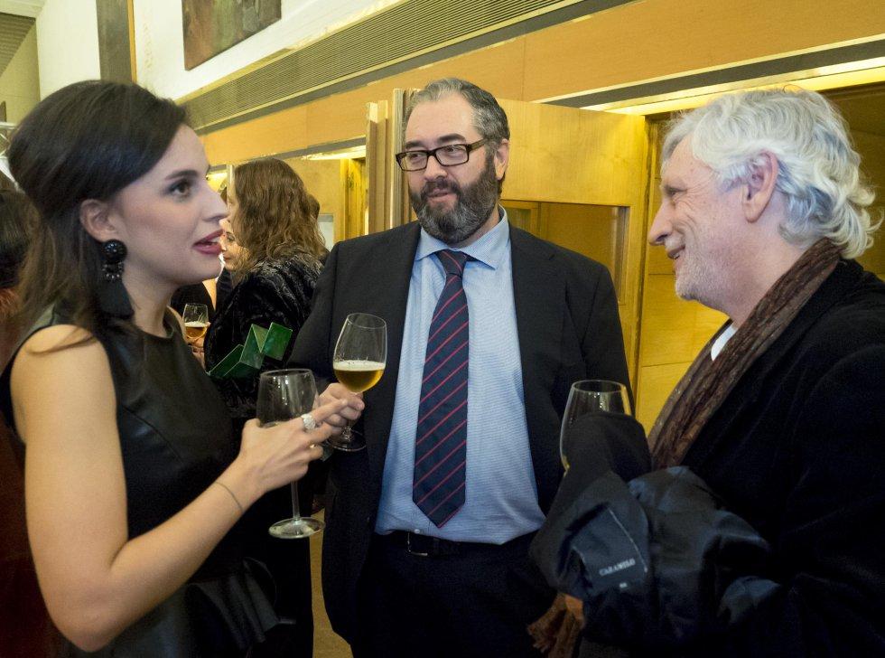 El director de la Cadena SER, Antonio H. Rodicio con el decano de jornalismo, Xose´Ramon Pousa