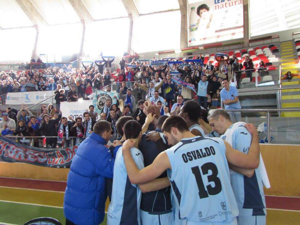 El equipo con la marea celeste en A Coruña