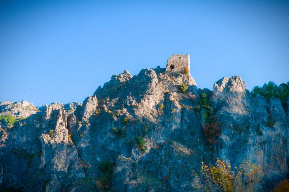 Montañas de la sierra de Cazorla al atardecer.